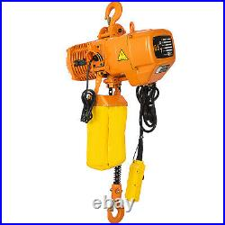 0.5T 1100lbs Electric Chain Hoist 1 Phase 110V Railway withLimit Switch Building