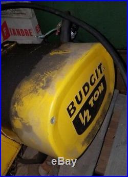 1/2 Ton Budgit Electric Chain Hoist Model #113452-5, 16 FPM, Capacity 1,000 lbs