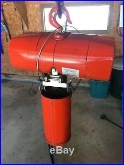 1/2 Ton Electric Chainhoist 115 volt CM model WF 10 of Lift height ($2200 new)