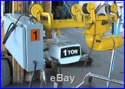 1-T Coffing EC20085 7' Electric Chain Hoist+mtr troley