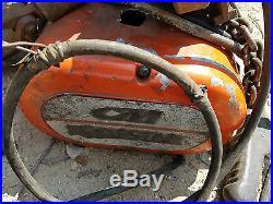 1 Ton CM Lodestar Electric Chain Hoist #L withTrolley & Pendant 208-240/440/480V