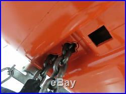 1 Ton Electric Chain Hoist 16 FPM 14'6 Lift 115 Volt Single Phase