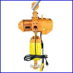 1 Ton Electric Chain Hoist 2200 lb. Super Electric Crane Hoist 10ft Lift 220V