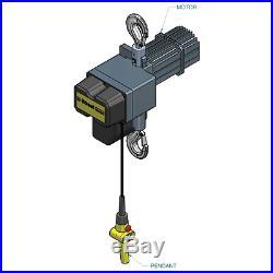 1 Ton Electric Chain Hoist Single Speed Street LX Series Free Freight