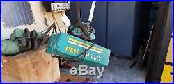 1 Ton P&H Electric Chain Hoist Zip Lift Cat# 9A23-51 25' Lift, 1hp, 230/460v