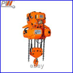 10 Ton Electric Chain Hoist with Power Trolley 40 ft. G100 Chain M4/H3 220/460v