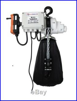 1000kg Single Phase 110v Industrial Electric Lifting Chain Hoist 20mtr Lift