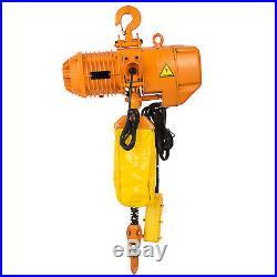 1T/2200lbs Electric Chain Hoist Single Chain No Noise Pure Copper Motor 110V