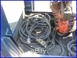 (2) CM 7-1/2 Ton Capacity Electric Chain Hoist Mdl. Y-75 Manual Trolley