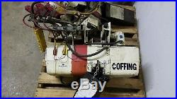 2 Coffing 2 Ton, Electric Chain Hoist, Crane, With Beam and Uprights