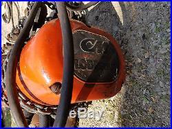 2-Speed 1/4 Ton CM Lodestar C2, 10/32 FPM Electric Chain Hoist Pendant & Trolley