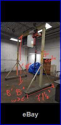 2 Ton Gorbel Gantry Adjustable Height with 2 Ton CM Electric Chain Hoist