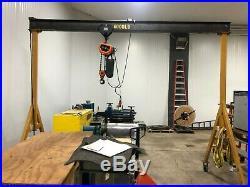 2 Ton Portable A-Frame Gantry Crane with 2 Ton Jet Electric Chain Hoist
