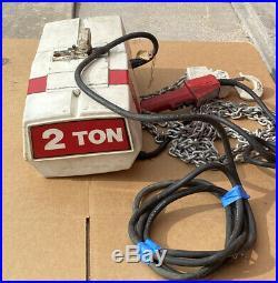2 ton electric chain hoist Coffing EC 4008 -3 15 Lift -3 phase 230/460