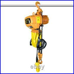 220V Electric Chain Hoist 2200 lb. Electric Crane Hoist HD Super 1 Ton 10ft Lift