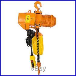 2T/4400lbs Electric Chain Hoist 1 Phase 110V Building Single Chain Anti-rust