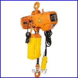 2T/4400lbs Electric Chain Hoist 1 Phase 110V High Speed Building Single Chain
