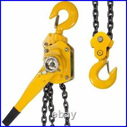 3/4 Ton Lever Block Chain Hoist Ratchet Type Come Along Puller 20FT Chain Lifter