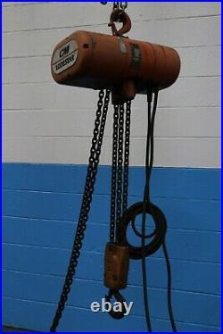 3 Ton C & M Single Phase Electric Chain Hoist Yoder #63369