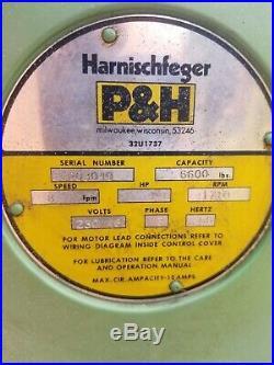 3 Ton Electric Chain Hoist P&h