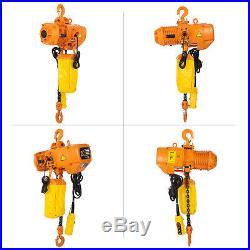 3Phases 110V 4400Lbs Electric Chain Hoist 10 Lift Height 2T Aluminium Alloy