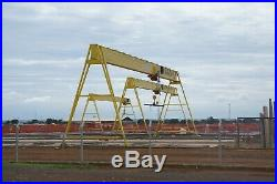 4 Ton Overhead Crane 30 Span. Electric Chain Hoist Double Speed