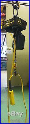 (#523) 1 Ton R&M Electric Chain Hoist 15' lift 3 phase