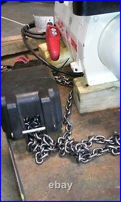 (#640)JLC 2 Ton Electric Chain Hoist 3 phase 460V 8 fpm