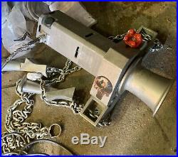 AB CHANCE Heavy Duty Electric Capstan Winch and Chain mount attachment