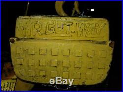 Acco Wright Way 2 Ton Electric Chain Hoist 480 Vac 34' Lift 3 Phase