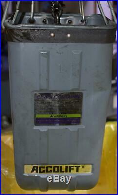 Accolift 2 Ton 20FT Electric Chain Hoist 2130050-VFD-460 ++ NICE ++