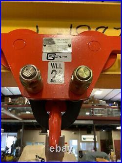 All Lift Cranes 2 Ton Gantry Hoist With 2 Ton Elephant Electric Chain Hoist