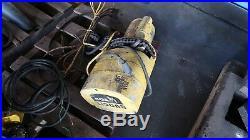 BUDGIT 1/4 TON ELECTRIC CHAIN HOIST Part # 428001-1