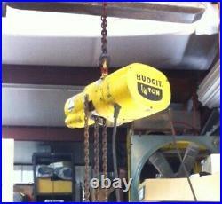 Budgit 1/4 TON 500LBS. Electric Chain Hoist 115V SINGLE PHASE