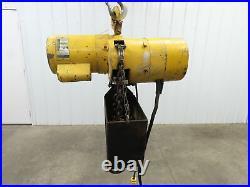 Budgit 1 Ton 2000Lb Electric Chain Hoist 14' 6 Travel 120V Single Phase 8FPM