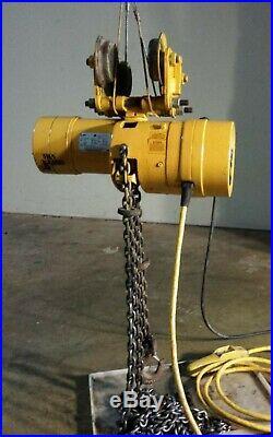 Budgit 1 Ton Electric Chain Hoist 115/230 Volts Single Phase