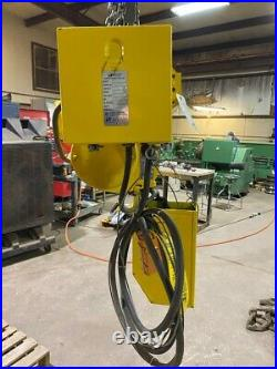 Budgit 1 Ton Electric Chain Hoist with Motorized Trolley, ModelBEH0108, 230/460V