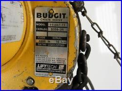 Budgit 115847-11 2 Ton Electric Chain Hoist 10'6 Travel 3 Phase