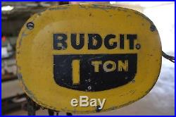 Budgit 1ton Model 113454-40 Electric Roller Chain Hoist With Manual Trolley