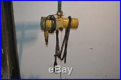 Budgit 1ton Model 115945-31 Electric Roller Chain Hoist With Manual Trolley