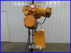 Budgit 2 Ton 4000Lb Electric Chain Hoist 3Ph 230/460V Power Trolley 11.5' Lift