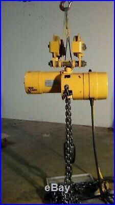 Budgit 2 Ton Electric Chain Hoist 240/460 Volts