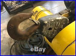 Budgit 2 Ton Electric Chain Hoist BEHC0216 16 FPM withManual Trolley & Pendant
