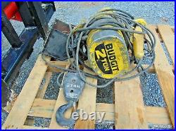 Budgit 2 Ton Electric Chain Hoist With Hook 4000 Lbs Lift Tech Crane Motor 16ft
