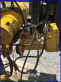 Budgit 2 Ton Electric Chain Hoist With Motorized Trolley