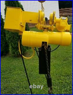 Budgit 2 Ton Electric Chain Hoist With Motorized Trolley With Pendant Control
