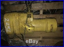 Budgit BEH0116 1 Ton Electric Chain Hoist Lift 15ft Chain