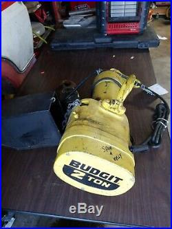 Budgit BEH0216 2 Ton Electric Chain Hoist Lift 230/460V 3PH Lifttech 2.5 HP 4000