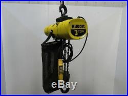 Budgit BEHC0310 3 Ton Electric Chain Hoist 10'Lift 10FPM 230-460V 3PH