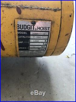 Budgit C-208-1 1/2 Ton Electric Overhead Chain Hoist Lift
